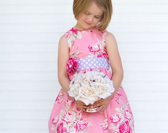 Pattern for Girls Clothes - PDF Sewing Pattern - Party Dress Sewing Pattern PDF