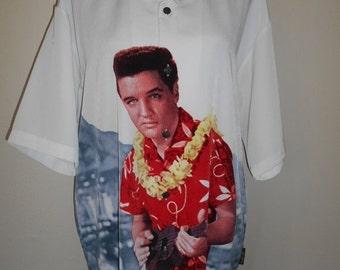 SALE SALE Vintage Elvis Presley Button down up shirt        XL