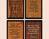 """PC-040 Four AE Flat A2 Cards or 3"""" x 4"""" Magnet(s) ~ Nice Woodworking Quotes ~ When I Die You May Touch My Tools, Wish to Die today..."""