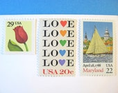 Love Maryland Springtime Postage Stamps, Annapolis Sailing Stamp, Love Stamp, Red Tulip, Mail 20 Wedding Invitations 2 oz 71 cents postage