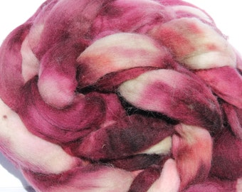 Kettle dyed Corriedale top. Roving. Spin. Felt. 1lb #30