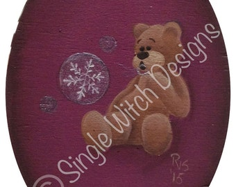 Snow Bubbles Christmas Ornament -Decorative Painting Pattern ePacket