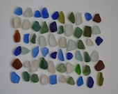 60 small and tiny pieces of smooth beach sea glass sgl22