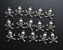 15 nautical pirate skull charms