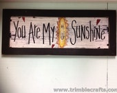 You Are My Sunshine sign child's room wall decor framed grandparents gift