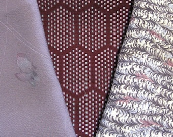 Dreamy - Vintage Japanese Kimono Fabric 3 Sleeve Mix Bundle Crafting