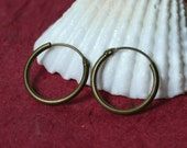 Antique brass spring hoop 14mm in diameter, 16 pcs (item ID ABSH12)