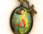 Mermaid Necklace-Gift for Kids - Girls Accessories- Mermaid Jewelry- Gift Under 20- Stocking Stuffer-Childrens Jewelry