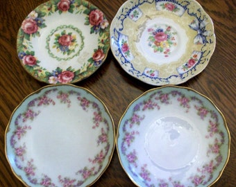 Lovely Collection of Vintage Rose China Plates Saucers Paragon Royal Albert Limoges
