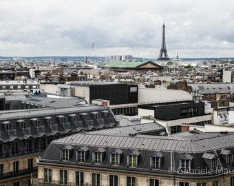 Photography  View on Paris // instant download / jpg file / home decor / roofscape