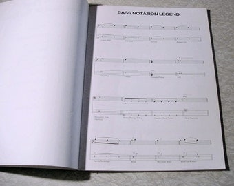 Pink Floyd Dark Side Of The Moon bass transcription and song book soft cover - Vintage - musician's tool, guide instructional, lyrics