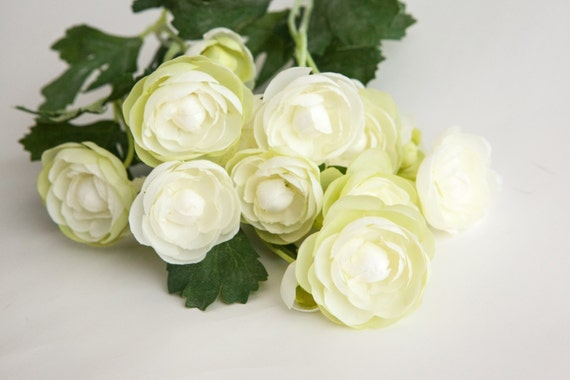 Clearance silk flowers choice image flower decoration ideas clearance 15 small mini white with lime ranunculus silk flowers clearance 15 small mini white with mightylinksfo