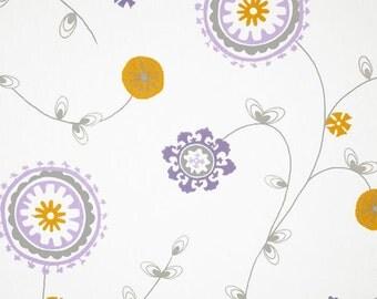 Emma twill wisteria valance lavender flowered valance lavender white valance emma valance