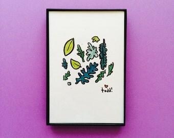 Art, Flowers 003, 4 x 6 inch Print