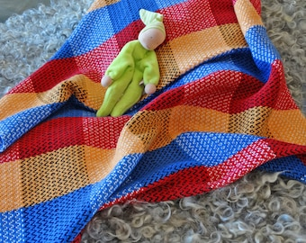 Crayon Handwoven Cotton Baby Blanket