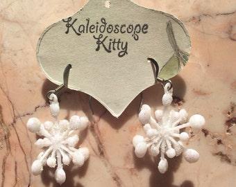 Holiday Glitter Snowflake Earrings