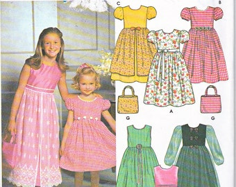 Simplicity 9497 Girls Purse Dress Petticoat Sewing Pattern Sizes 3-6 Out of Print UNCUT