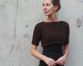 cropped sweater brown , women's sweater,