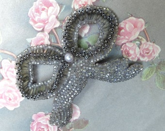 Vintage Beaded Pin Bow Jewelry