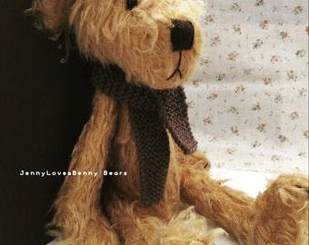 Dear Hans - Artist bear by Jenny Lee of JennyLovesBenny Bears