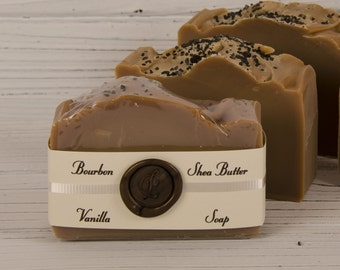 Bourbon Vanilla Soap - Handmade Cold Process Soap - Soap For Men - Fathers Day Gift - Husband Gift - Valentines Day Gift