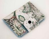 Handmade Vinyl Passport Case - Vintage Maps 2 / traveller, passport, vinyl, gift, womans, mens, wallet, map, atlas, retro, adventurer