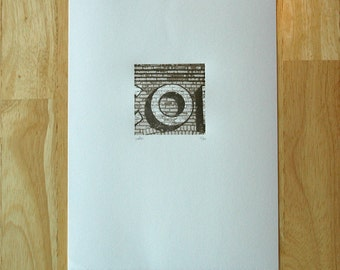 Letter O — Letterpress Print
