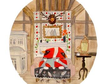 the Cardinals Lodge - PRINT