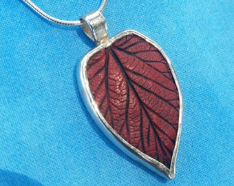 Red and Silver Elm Necklace