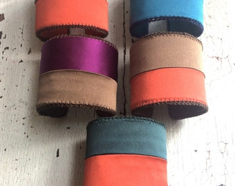 Color Block Silk Adjustable Cuffs