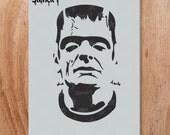 Frankenstein Stencil- Reusable Craft & DIY Stencils- S1_01_54 -8.5x11- By Stencil1