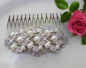 Decorative comb, Bridal hair clip, wedding comb, Pearl Bridal clip, wedding hair clip, Pearl Wedding hair comb