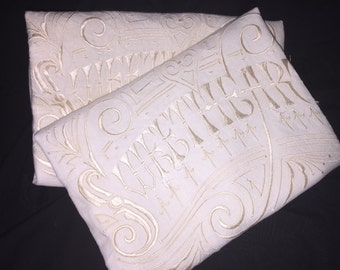 Vintage Set of Sweetheart Pillow Cases