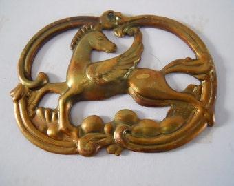Vintage Pegasus Stamping Brass Ox