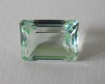 Vintage Antique Glass Stone Olivin Chrysolite 14 x 10 Octagon