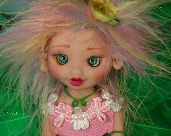 Fairy Fairies Fae pixie elf OOAK Fantasy Art Doll By Lori Schroeder 307HJ