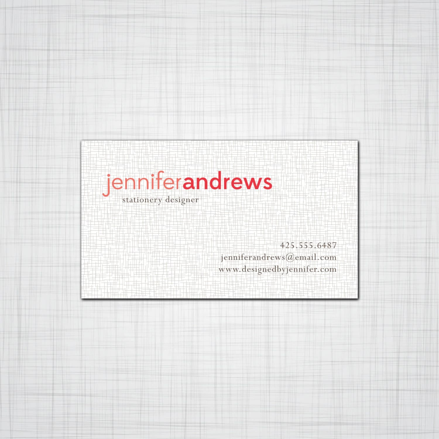 Simple Linen print Calling Cards Business Cards Set of 50 Cards