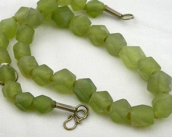Faceted Jade bead strand, Pre-Islamic style