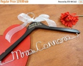 20% OFF SALE Engraved Wedding Hangers Custom Hangers Bridal Accessories Wedding Hangers Name Hangers
