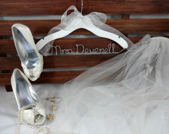Personalized Bridal Hangers Personalized Hangers Wedding Dress Hangers Bridal Accessories Wedding Coat Hangers Bride Hangers P