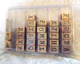 Stampin Up Newsprint Alphabet stamp set