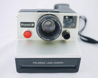 Vintage Metallic Grey Polaroid Pronto B Land Camera (Battery Tested)
