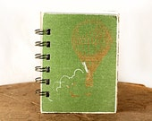 Leafy Green Hot Air Balloon - One-of-a-Kind Screen-Printed Pocket Journal