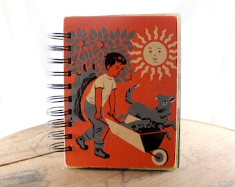 Down on the Farm - Wire-Bound Recycled Art Journal