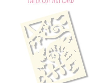 Limited Edition Flora & Fauna Papercut Art Card