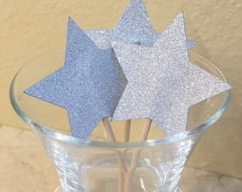 Star Cupcake Topper/Party Picks - Set of 12