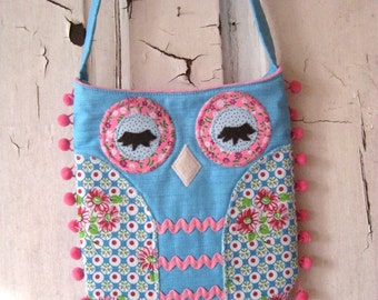 OWL Tote Handbag Hippie Bag