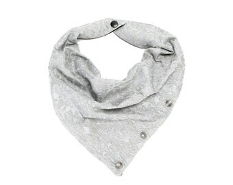 Heather Silver Gray Neckerchief Cowl