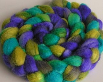 Fiber Roving Top BFL Silk BALI Top Hand Painted Wool Spin Felt Craft Roving 4 ounces