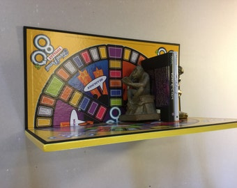Upcycled Totally 80s Trivial Pursuit Boardgame Shelf